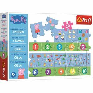 Trefl Vzdělávací puzzle Čísla Prasátko Peppa, 20 dílků