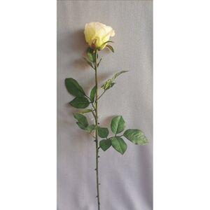 Umělá růže bílá, 69 cm