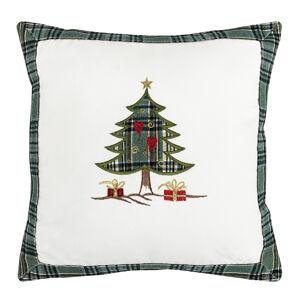 BO-MA Trading Vánoční povlak na polštářek Stromečky, 40 x 40 cm