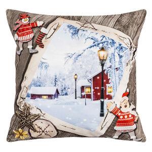 BO-MA Trading Vánoční povlak na polštářek Tichá noc, 40 x 40 cm