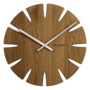 Vlaha VCT1014 Dubové hodiny pr. 32,5 cm, stříbrná