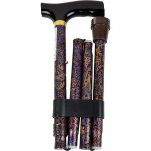 Modom Vycházková skládací hůl s komfortní rukojetí, oriental gold - KP022