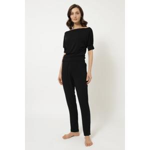 Luisa Moretti Dámské bambusové pyžamo MIA Černá XL