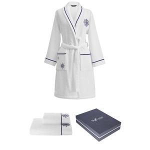 Soft Cotton Dárkové balení županu, ručníku a osušky MARINE LADY Bílá S